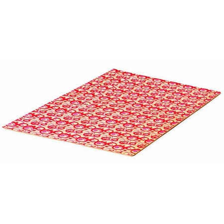 FEUILLE DECOR BULLE ROSE 58 x 37 CM